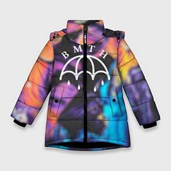Куртка зимняя для девочки BMTH Rain цвета 3D-черный — фото 1