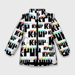 Куртка зимняя для девочки K-pop Pattern цвета 3D-черный — фото 1