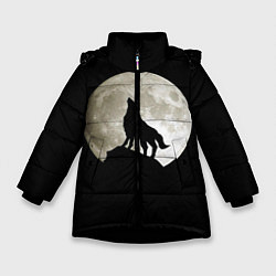 Куртка зимняя для девочки Moon Wolf цвета 3D-черный — фото 1