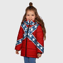 Куртка зимняя для девочки Флаг советской конфедерации - фото 2