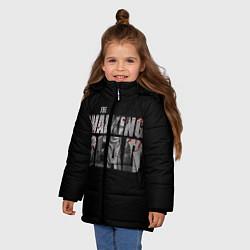 Куртка зимняя для девочки The Walking Dead: RIck цвета 3D-черный — фото 2