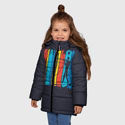 Куртка зимняя для девочки Радужный спорт цвета 3D-черный — фото 2