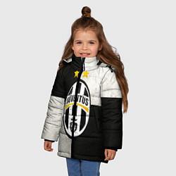Куртка зимняя для девочки Juventus FC цвета 3D-черный — фото 2