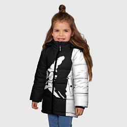 Куртка зимняя для девочки Grandfather: Black & White цвета 3D-черный — фото 2
