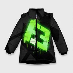 Куртка зимняя для девочки Flipsid3: Black collection цвета 3D-черный — фото 1