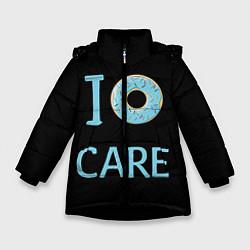 Куртка зимняя для девочки I Donut care цвета 3D-черный — фото 1