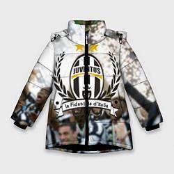 Куртка зимняя для девочки Juventus5 цвета 3D-черный — фото 1