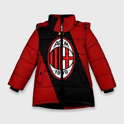 Куртка зимняя для девочки Milan FC: Red Collection цвета 3D-черный — фото 1