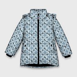 Куртка зимняя для девочки Олени цвета 3D-черный — фото 1