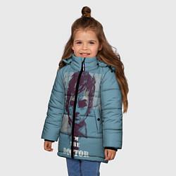 Куртка зимняя для девочки I'm the doctor цвета 3D-черный — фото 2