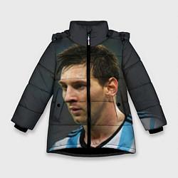 Куртка зимняя для девочки Leo Messi цвета 3D-черный — фото 1