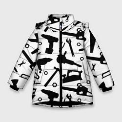 Куртка зимняя для девочки Строитель 7 цвета 3D-черный — фото 1