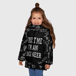 Куртка зимняя для девочки Строитель 13 цвета 3D-черный — фото 2