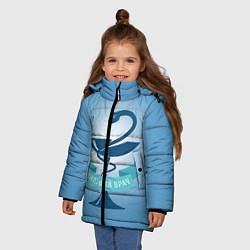 Куртка зимняя для девочки Будущий врач цвета 3D-черный — фото 2