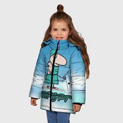 Куртка зимняя для девочки Хирург цвета 3D-черный — фото 2