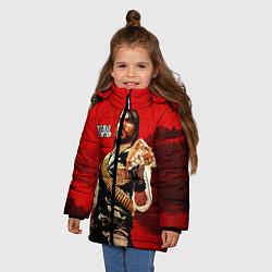 Куртка зимняя для девочки Red Dead Redemption цвета 3D-черный — фото 2