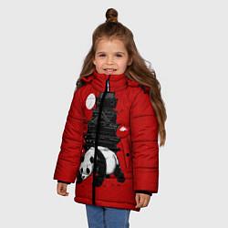 Куртка зимняя для девочки Panda Warrior цвета 3D-черный — фото 2