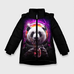 Куртка зимняя для девочки Panda Cosmonaut цвета 3D-черный — фото 1