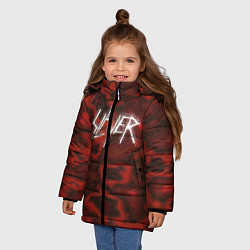 Куртка зимняя для девочки Slayer Texture цвета 3D-черный — фото 2