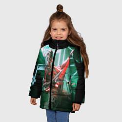 Детская зимняя куртка для девочки с принтом Iron Maiden: Rocker Robot, цвет: 3D-черный, артикул: 10112079806065 — фото 2