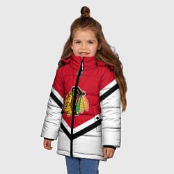Куртка зимняя для девочки NHL: Chicago Blackhawks цвета 3D-черный — фото 2