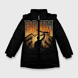 Куртка зимняя для девочки Zombie Boom цвета 3D-черный — фото 1