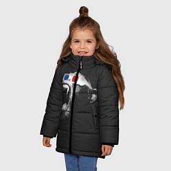 Куртка зимняя для девочки 3D Monkey цвета 3D-черный — фото 2
