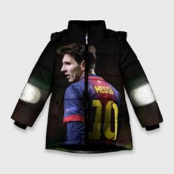 Куртка зимняя для девочки Месси 10 цвета 3D-черный — фото 1