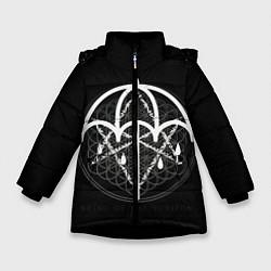 Куртка зимняя для девочки BMTH: Rain Symbol цвета 3D-черный — фото 1
