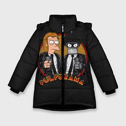 Детская зимняя куртка для девочки с принтом Pulporama, цвет: 3D-черный, артикул: 10113801506065 — фото 1