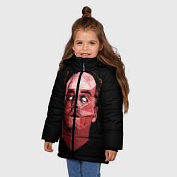 Куртка зимняя для девочки Dark Moriarty цвета 3D-черный — фото 2