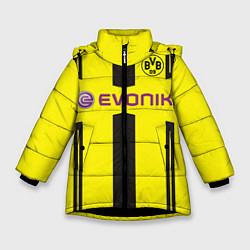 Куртка зимняя для девочки BVB: Marco Reus цвета 3D-черный — фото 1