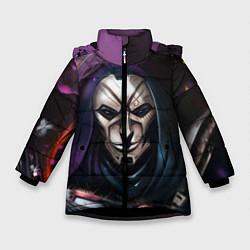 Куртка зимняя для девочки Mask цвета 3D-черный — фото 1