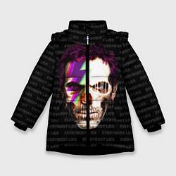 Куртка зимняя для девочки Dr. Dead House цвета 3D-черный — фото 1