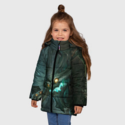Куртка зимняя для девочки Маокай цвета 3D-черный — фото 2