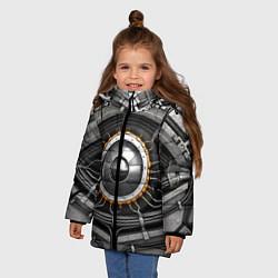 Куртка зимняя для девочки Android eye цвета 3D-черный — фото 2