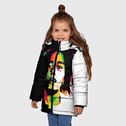 Куртка зимняя для девочки Bob Marley: Colors цвета 3D-черный — фото 2