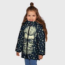 Куртка зимняя для девочки Hipster is Dead цвета 3D-черный — фото 2