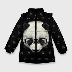 Куртка зимняя для девочки Умная панда цвета 3D-черный — фото 1