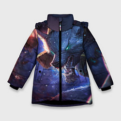 Куртка зимняя для девочки Warwick цвета 3D-черный — фото 1