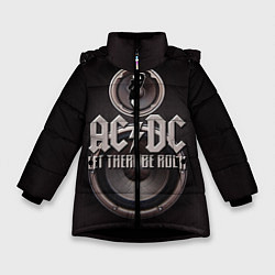 Куртка зимняя для девочки AC/DC: Let there be rock цвета 3D-черный — фото 1