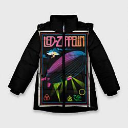 Куртка зимняя для девочки Led Zeppelin: Angel Poster цвета 3D-черный — фото 1