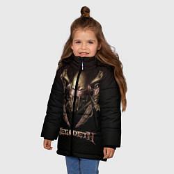 Детская зимняя куртка для девочки с принтом Megadeth, цвет: 3D-черный, артикул: 10118376206065 — фото 2