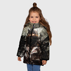 Куртка зимняя для девочки Disturbed: Madness цвета 3D-черный — фото 2
