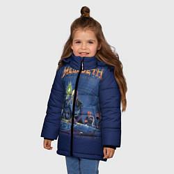 Куртка зимняя для девочки Megadeth: Rust In Peace цвета 3D-черный — фото 2