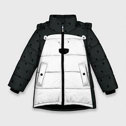 Куртка зимняя для девочки Белый мишка цвета 3D-черный — фото 1