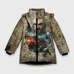 Куртка зимняя для девочки Ведьмак Геральт цвета 3D-черный — фото 1