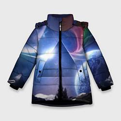 Куртка зимняя для девочки Pink Floyd: Space цвета 3D-черный — фото 1