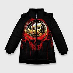 Куртка зимняя для девочки Megadeth: Blooded Aim цвета 3D-черный — фото 1