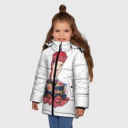 Куртка зимняя для девочки Twenty One Pilots: Red Guy цвета 3D-черный — фото 2